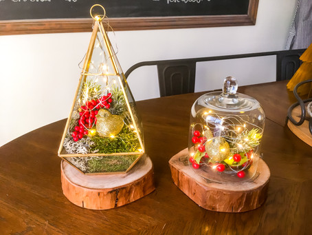 DIY Dollar Store Christmas Terrariums