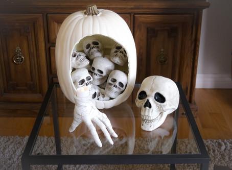 DIY Skull Pumpkin Decor