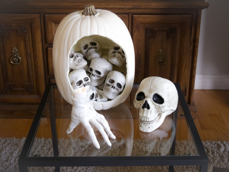 DIY Skull Pumpkin Decor