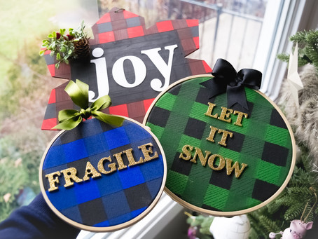 DIY Buffalo Plaid Christmas Decor