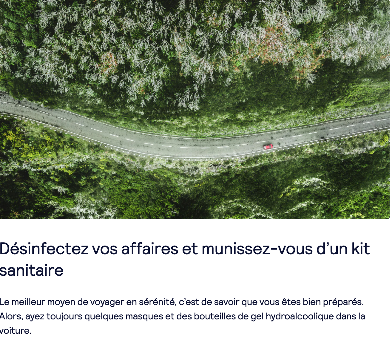 Road trip advice during Covid-19