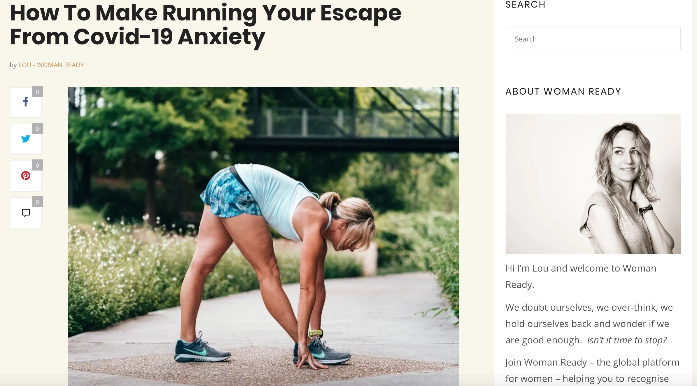 Escape COVID-19 anxiety with a run