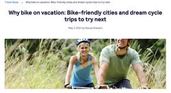 Biking on vacation article