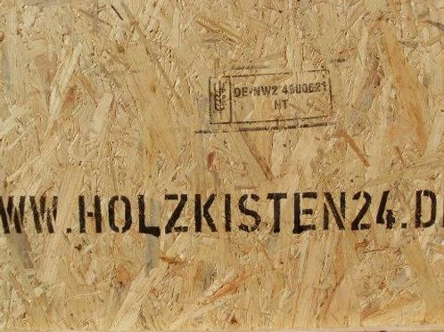 Beschriftung von Holzkisten, Holzteilen