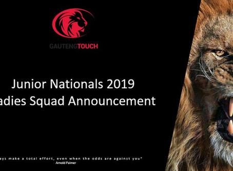 2019 Junior National Squad Announcement (Ladies)