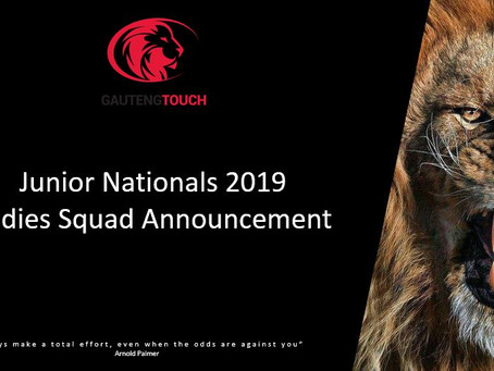 2019 Junior National Squad Announcement (Ladies)
