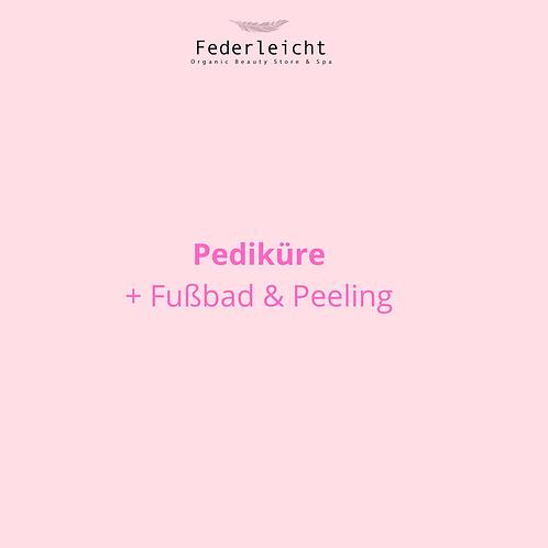 Pediküre + Fußbad & Peeling