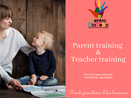 PARENT TRAINING E TEACHER TRAINING