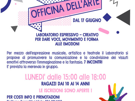 LABORATORIO ESTATE 2019 -  OFFICINA DELL'ARTE