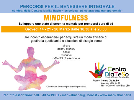 "Percorso ""MINDFULNESS"""