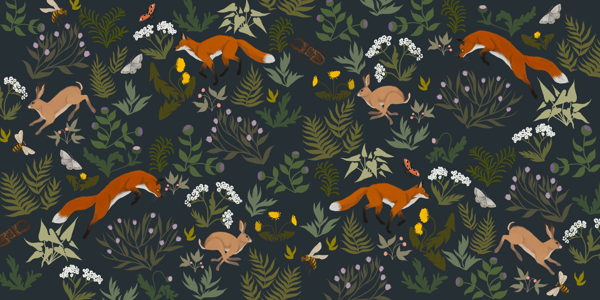 Leap, Hare, Leap - Endpapers