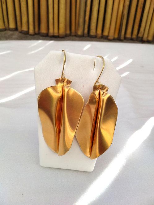 Brass Leaves Earrings2