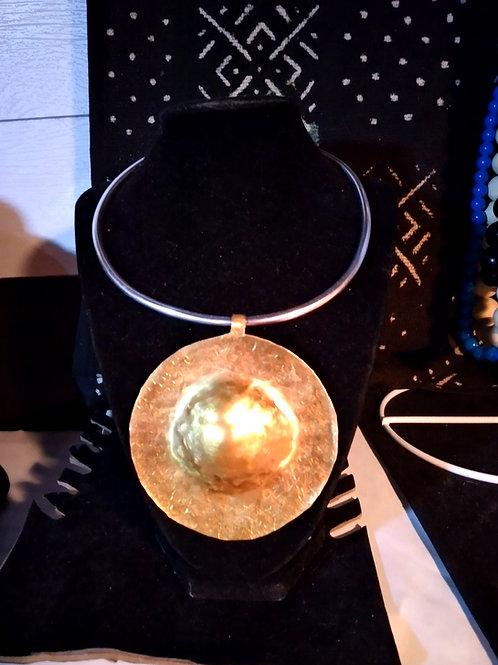 Brass/Aluminium Saturn Inspired Necklace/Chocker
