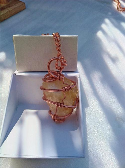 Citrine Necklace/ Copper