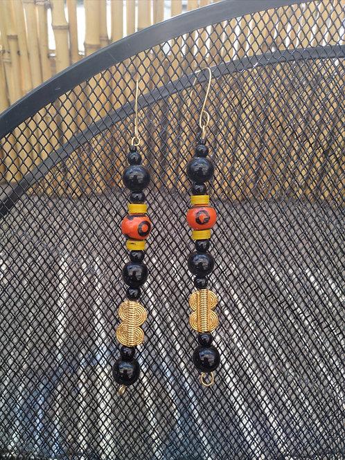 African beads drop earrings
