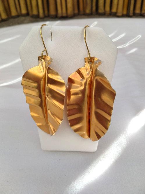 Brass Leaves Earrings1