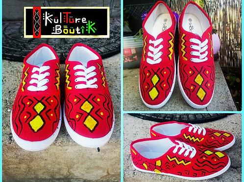 Handpainted sneakers, Red spirit