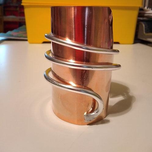 Zoe Stack Copper/Aluminum Cuff