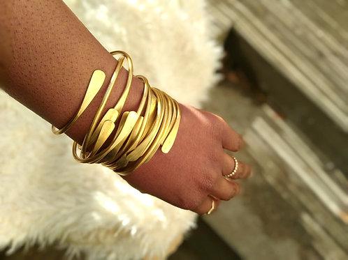 Adjustable Brass Bangles/Bracelets