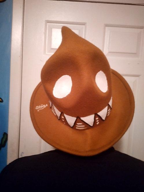 Brown Handpainted Pharell hat