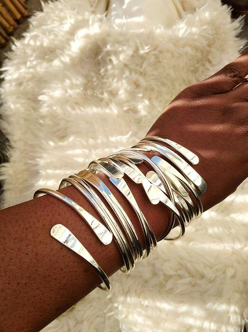 Adjustable Silver Plated Bangles/Bracelets