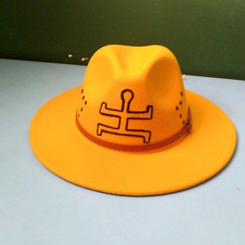 ForThePeople Handpainted Fedora hats/Yellow / Unisex