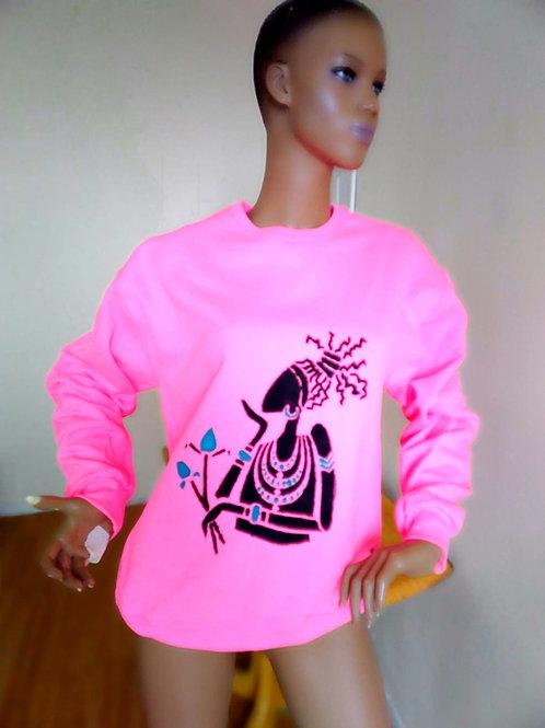 Pink Handpainted sweatshirt