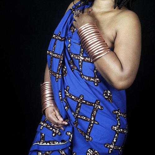 Nubian Spiral Copper Bracelet