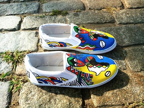 Black power sneakers