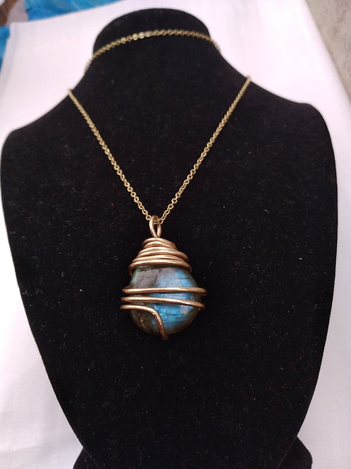 Brass Labradorite Necklace