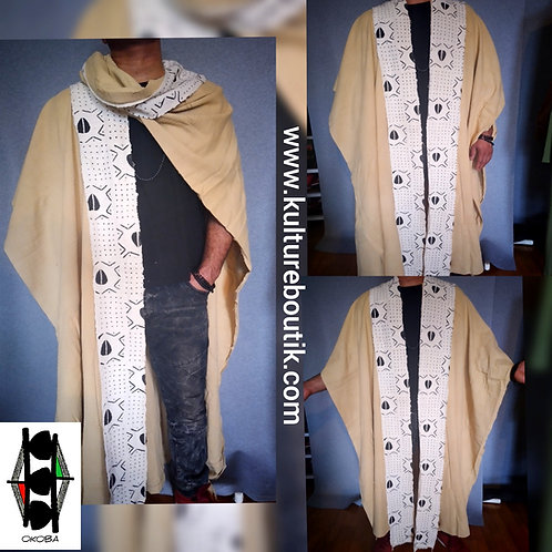 Versatile overcoat wrap / Unisex/ One size fit most