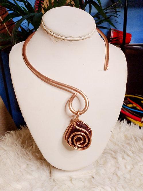 The Fluorite Open Corner Copper Necklace