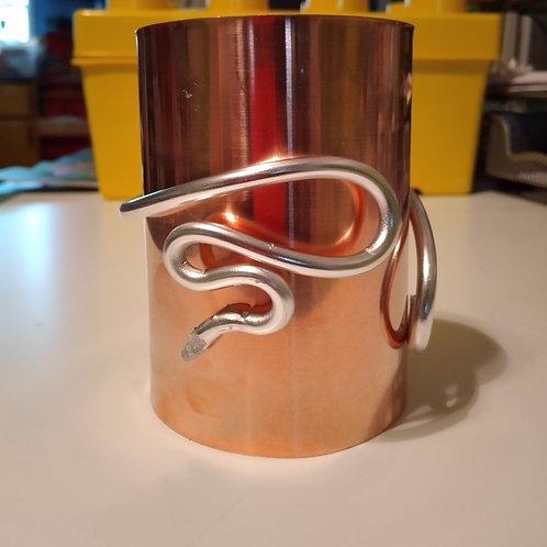 Isis Stack Copper/Aluminum Cuff Adjustable