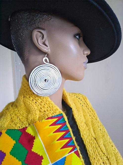 Spiral Aluminium Earrings