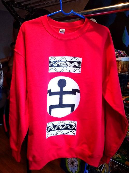 ForThePeople handpainted sweatshirt/Red/Large
