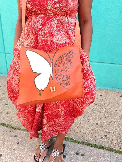 Butterfly Handpainted Cross Body Bag