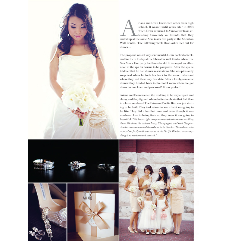 Feature in Perfect Wedding Magazine
