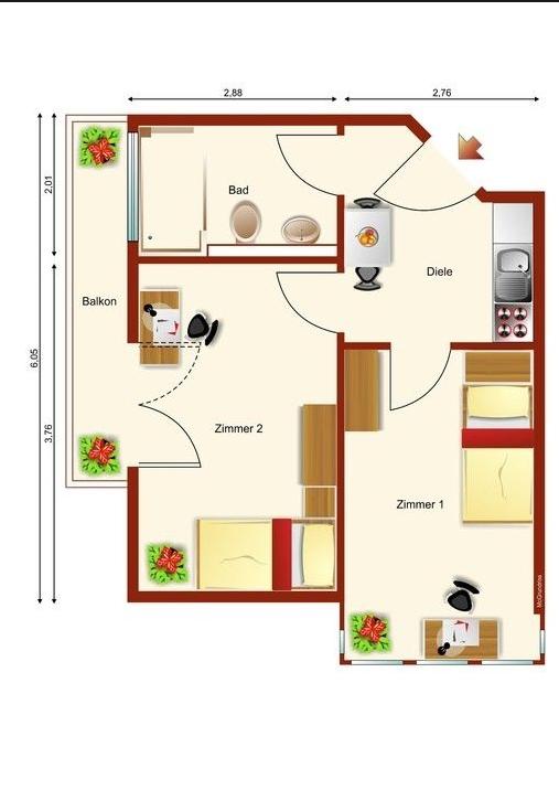 5568 10 1.OG 2-Wohnung 0.34 Typ 3