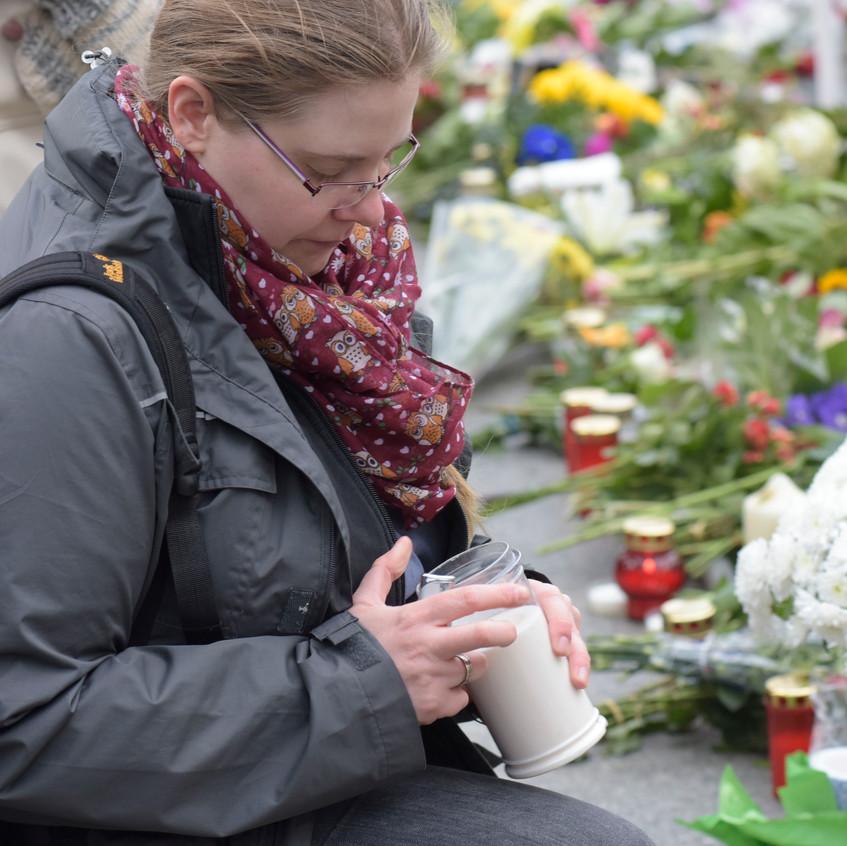 Trauer nach den Anschlägen von Paris