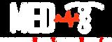 White MED-T Logo white with transparent.