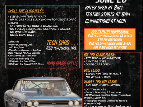 Muscle Car Race & Rumble at the Rock Online Registration is Open!