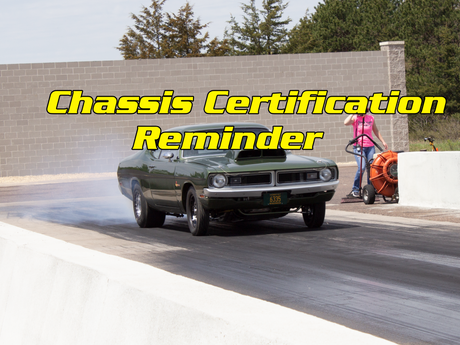 Chassis Certification Reminder