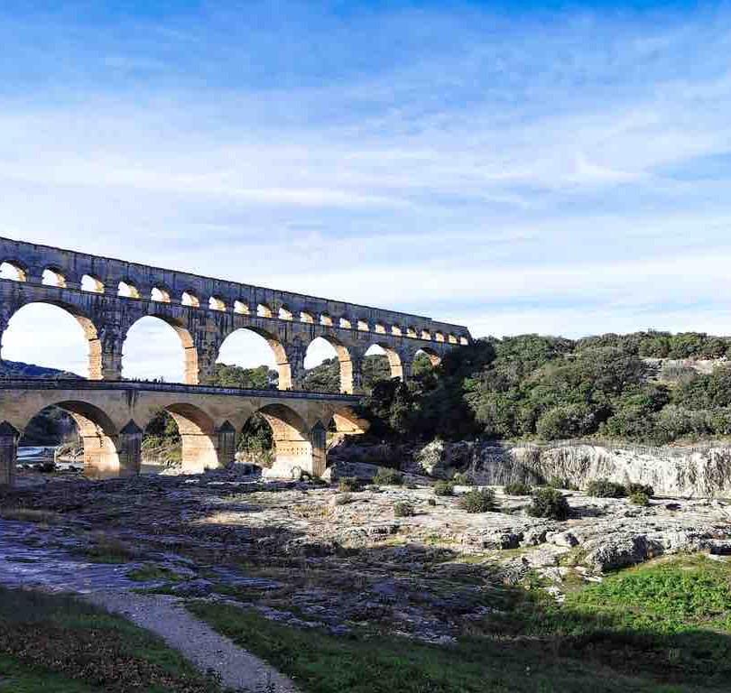 1er janvier au Pont-du-Gard