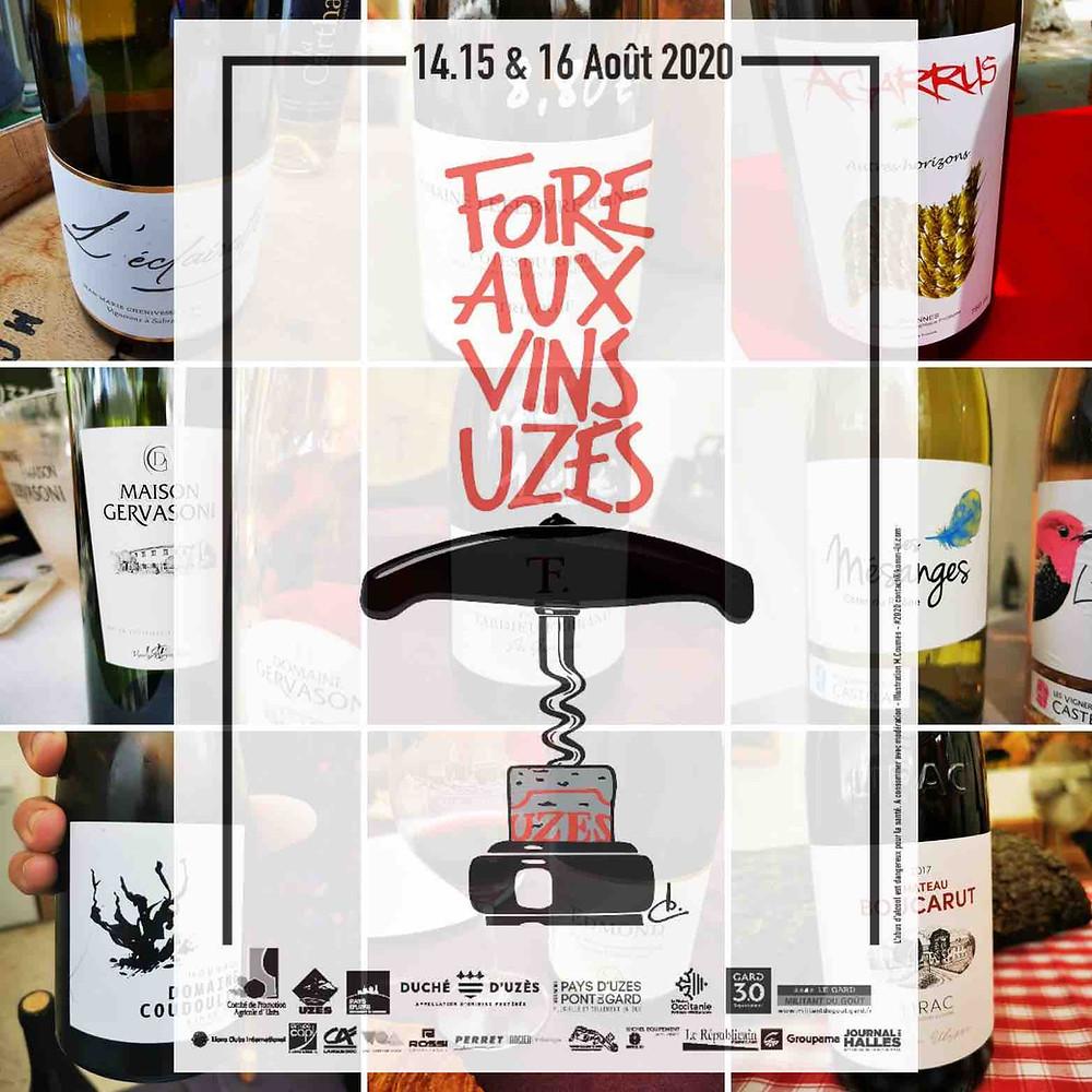Foire au Vins d'Uzès 2020 - Ma sélection - Nicolas Bria - Blog Vin - Gard