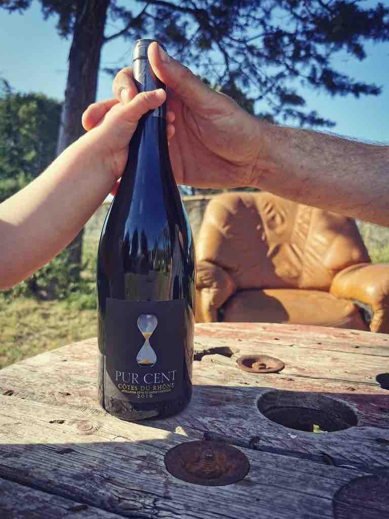 Vin - Côtes du Rhône - Pure cent - Photo par Nicolas Bria - #vinvisdeviens