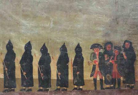 Peinture de la procession des Pénitents Noirs. toile du XVIIIe siècle, classée aux Monuments Historiques