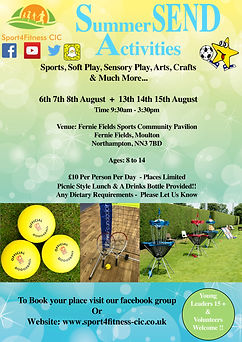 Sport4Fitness Summer SEND Activities 201