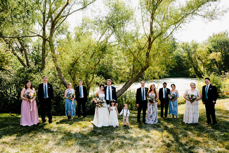 bridal-party-outdoor-summer-forest-preserve-photography-documentary-wedding-photographer-chicago-rotarski