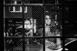 sportsmans-club-bucktown-hipster-reflections-through-window-engagement-wedding-chicago-fine-art-phot