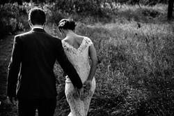 newlywed couple on a prairie